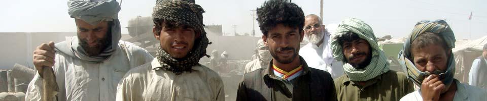 Arbeiter in Helmand, Afghanistan