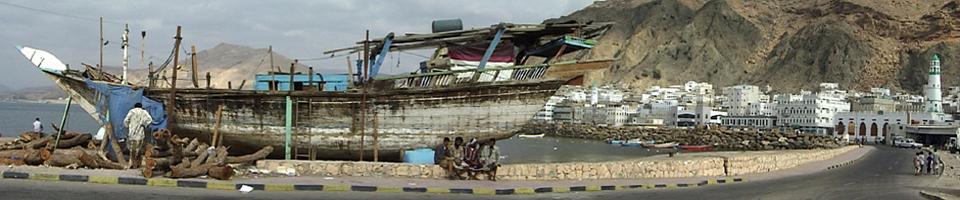Hafen in Mukalla, Jemen