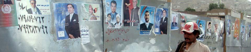 Wahlplakate Kabul